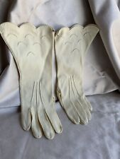 "Vintage Pale Yellow ""Handmade"" Driving / Evening Gloves"