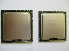 Matched Pair (2x) Intel Xeon W5590 3.33GHz QC CPU SLBGE 8M Cache 6.40GTs LGA1366