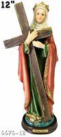 "12"" Tall Santa Elena Statue Saint San Figurine Figure Religious St Helen New"