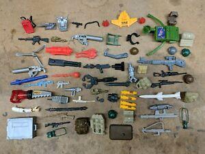 Original GI Joe action figure accessory lot 1, backpack binoculars rifle seat