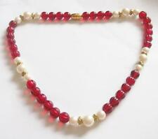 Pearl Gold Necklace Vintage Costume Jewellery (1950s)