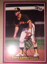Steve Garvey Autographed 1984 Donruss #38 San Diego Padres