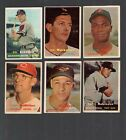 1957+Topps+Baseball+lot+of+11+different+cards
