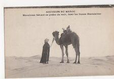 Maroc, Musulman faisant sa priere du soir, dans les Dunes Postcard, B327