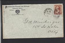 CHICAGO,ILLINOIS 1885,#210 ADVT  UHLICHS HALL, COOK CO. 1831/OP.