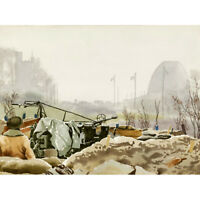 Colville Anti Aircraft Gun Nijmegen Bridge WWII Painting Canvas Art Print Poster