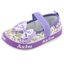 NEW GIRLS BABY LEATHER INSOLES CANVAS PUMPS BALLERINAS NURSERY SLIPPERS SHOES UK
