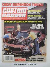 Custom Rodder Magazine  October 1980   Bob Stall '60 El Camino  Super Sport