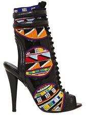 *New* EMILIO PUCCI Multicolor Masai Patent Leather Boots 120mm - sz 40/US 8.5