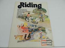 1974 Champion Spark Plug Brochure Honda Yamaha Harley L1263