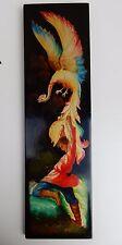 Firebird - Vintage Soviet Era, Russian Wall Plaque, Hand Painted Wood  folk art