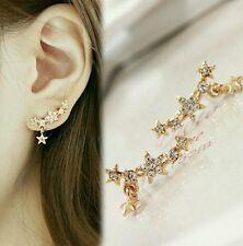 #1116 Shining Full Bore Little Star Spherical Crystal Flower Stud Earrings Women