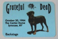 Grateful Dead Backstage Pass 10-20-84 The Carier Dome Syracuse New York
