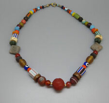 (kB445) Tibet Necklace  Old mixed trade beads (glass, stone, shell)
