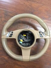 2011 Porsche Cayenne 958 OEM Beige Tan Steering Wheel With Switches 7PP419091AD