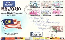 Malaysia Orchid FDC 1965 Melaka. 9 ON FDC. Mailed