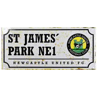Newcastle United FC St James Park Retro Street Sign - Free UK 1st Class Delivery