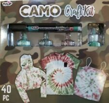Tulip Tie Dye Camo Craft Kit, (Army Green, Green and Rust Brown), 40 Pieces