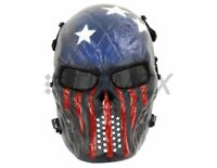 Airsoft Paintball Tactical Full Face Mask Combat Skull Skeleton Game Protect USA