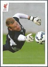 PANINI LIVERPOOL STICKER-2014/15- #103-SIMON MIGNOLET SAVES IN  TRAINING
