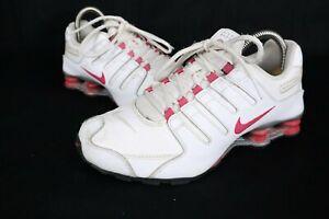 Nike Shox NZ GS 415245-104 Running Shoes Youth sz 6.5 White Pink