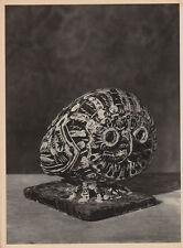 1951 Vintage, Pablo Picasso Sculpture, FIne Art Helio, Owl Sculpture, Verve