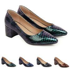 4 Colors Women Dress OL Work Office Slip On Pointy Toe Block Heel Pumps Shoes D