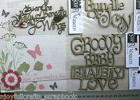 CHIPBOARD DieCut WIND BENEATH MY WINGS & BABY WORDS 3 Style Choice Scrap FX B