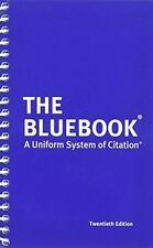 The Bluebook Harvard Uniform System of Citation 20th ed 2015 NEW isbn 0692400192