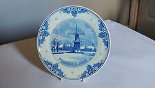 """Royal Delft Handpainted Kerstmis 7 1/8"""" Plate Christmas 1968 IKE 530 CM"""