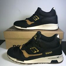 NEW BALANCE 1500 Made in England Running Shoe Men US Size 8.5 MH1500KT Black/Tan