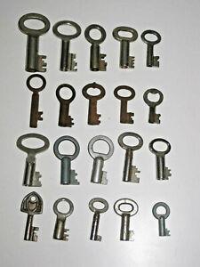 20 x alte Hohlschlüssel, für Truhe, Vorhängeschloss, Bügelschloss, Schlüssel TOP