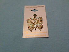 Womens Yellow Gold Plated Butterfly Charm NWT Butterfly Necklace Chain