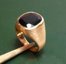 Una singola 585er oro uomo-Anello con sigillo M. Granat * 14,45 G * Grandi U. difficile