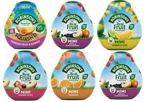 ROBINSONS Squash'd Concentrate Sugar Free Mixer Squash 66ml CHOOSE FLAVOUR & QTY