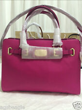 Michael Kors Bag MK Hamilton 35F0GHMT3L East West Leather Satchel Fuschia Agsb