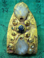 Phra Khun Paen Wat Phra Kaew Gem Talisman Thai Buddha Amulet Antique Jewelry