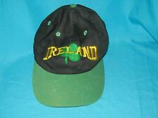 RARE VINTAGE IRELAND SOCCER BUCKLE STRAP BACK CAP HAT - ADIDAS