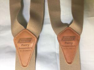 NEW 2 Dickies Perry Adjustable Suspenders  Khaki