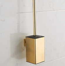 New Wall Mounted Home Bathroom Toilet Cleaning Stainless Steel Brush Set Gold