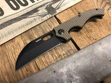 """VDK Small Goat Frame Lock Knife Tan G-10 (3"""" Black)"""