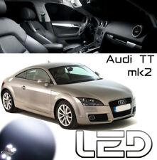 AUDI TT Cabriolet MK2 Kit 4 Ampoules LED Blanc plafonnier Coffre Boîte à gants