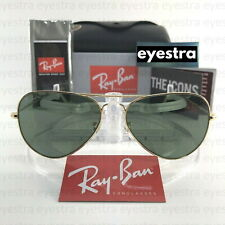 Authentic Ray-Ban Aviator Gold Frame Green Lens Sunglasses