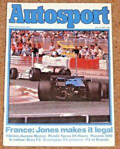 Autosport 3/7/80* FRENCH GP - MONZA AURORA AFX - BRANDS F3 - FERRARI 512 POSTER