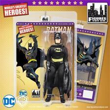 """BATMAN New Head 8"""" Black Costume Figure LE500 Retro-Mego MOC DC Comics"""