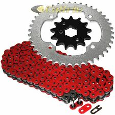 Red O-Ring Drive Chain & Sprocket Kit Fits YAMAHA BANSHEE 350 YFZ350 1987 1988