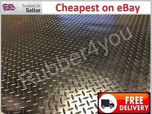 EXTRA THICK DIAMOND Checker - Plate Rubber Garage Flooring Matting 1.5m x 5mm