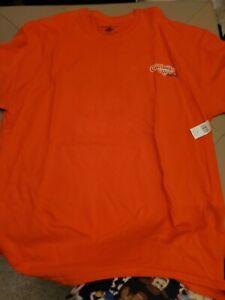 Disney Cruise Line Adult 2XL Castaway Cay Orange T Shirt NWT