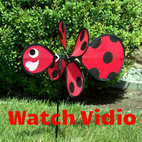 """Ground Decor Ladybug Baby Spinner 12"""" W x 23"""" H x 17"""" D In The Breeze ITB-2802"""