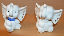 Vintage Small White Baby Elephants Trunk Up